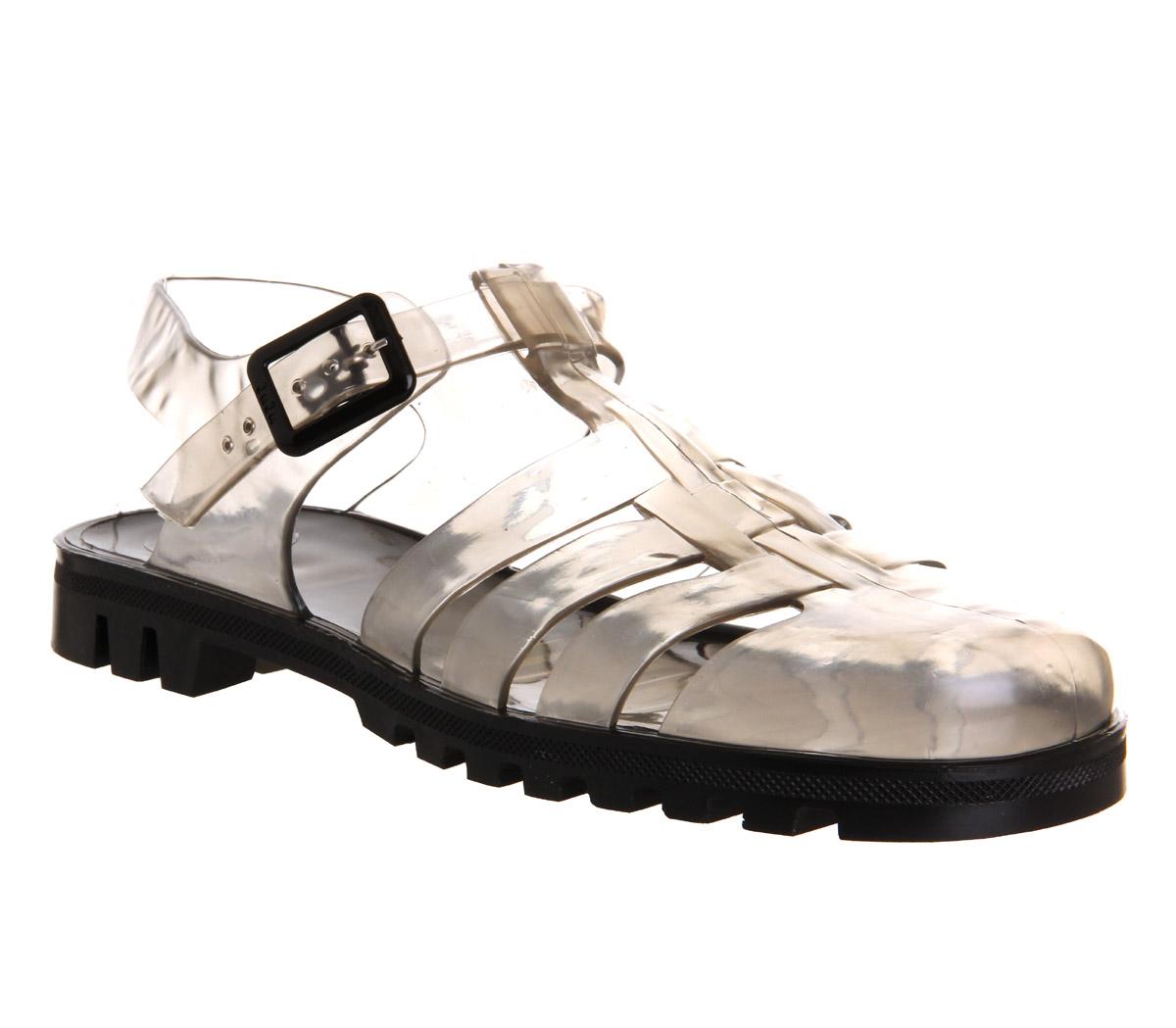 Black juju sandals - Mens Juju Maximan Jelly Trans Black Sandals
