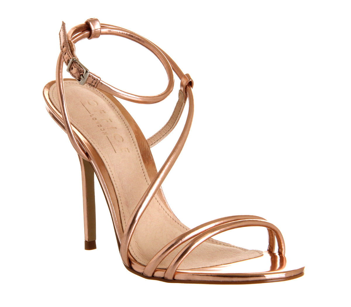 Womens Office Jools Strappy Sandal ROSE GOLD Heels | eBay