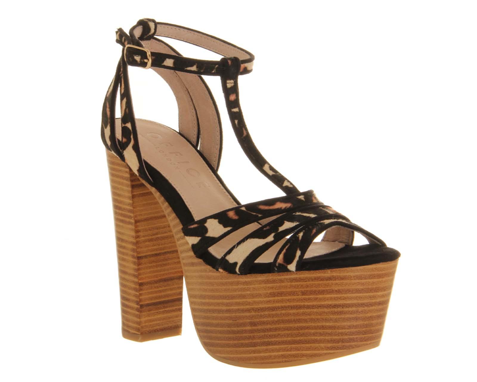 Womens-Office-Jalouse-LEOPARD-PONY-TAN-STACK-Heels