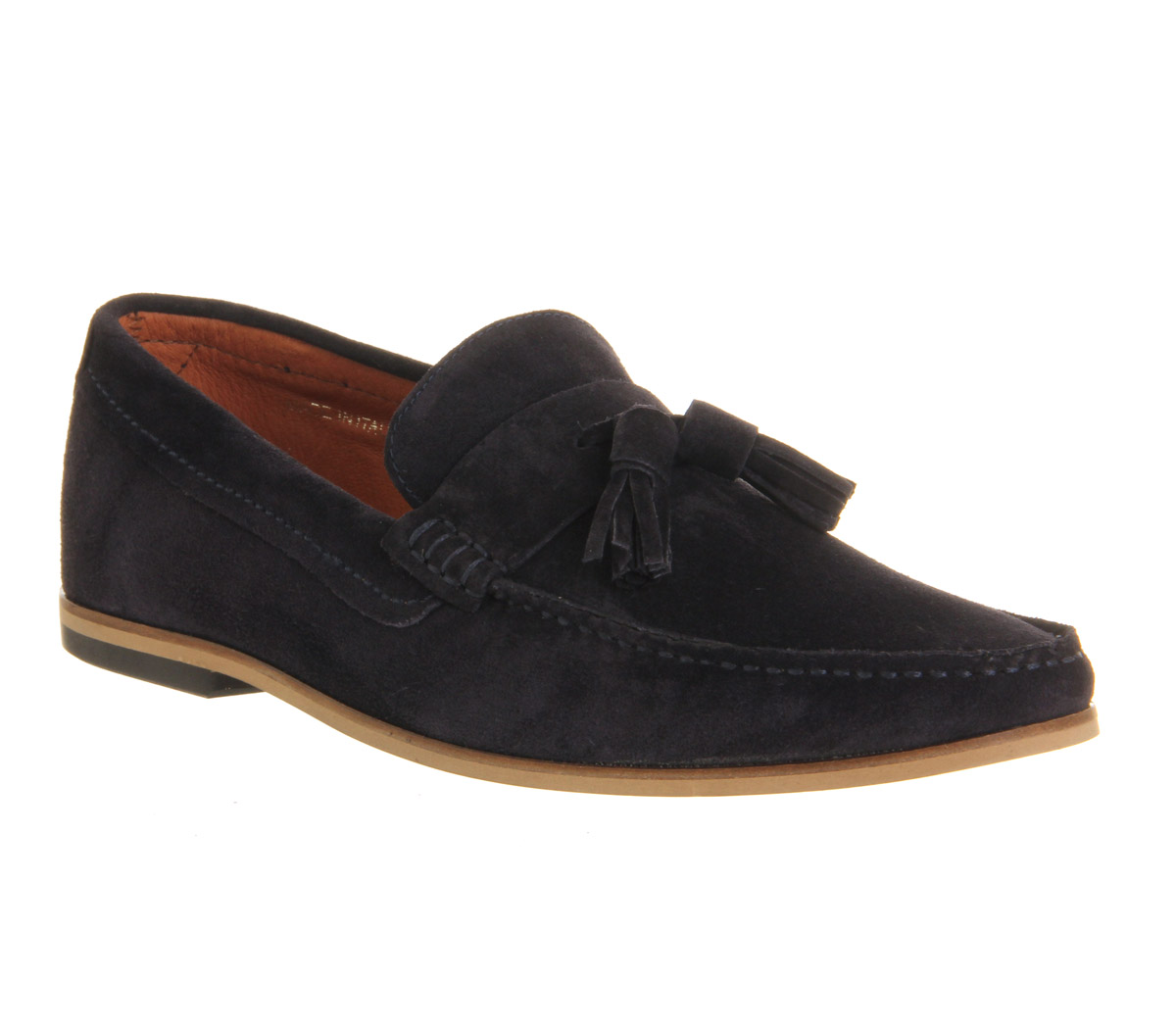 mens ask the missus approval loafers navy suede formal