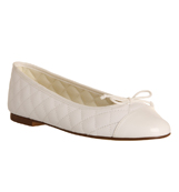 Womens-Office-Cecilia-Toe-cap-Ballerina-NEW-WHITE-LEATHER-Flats