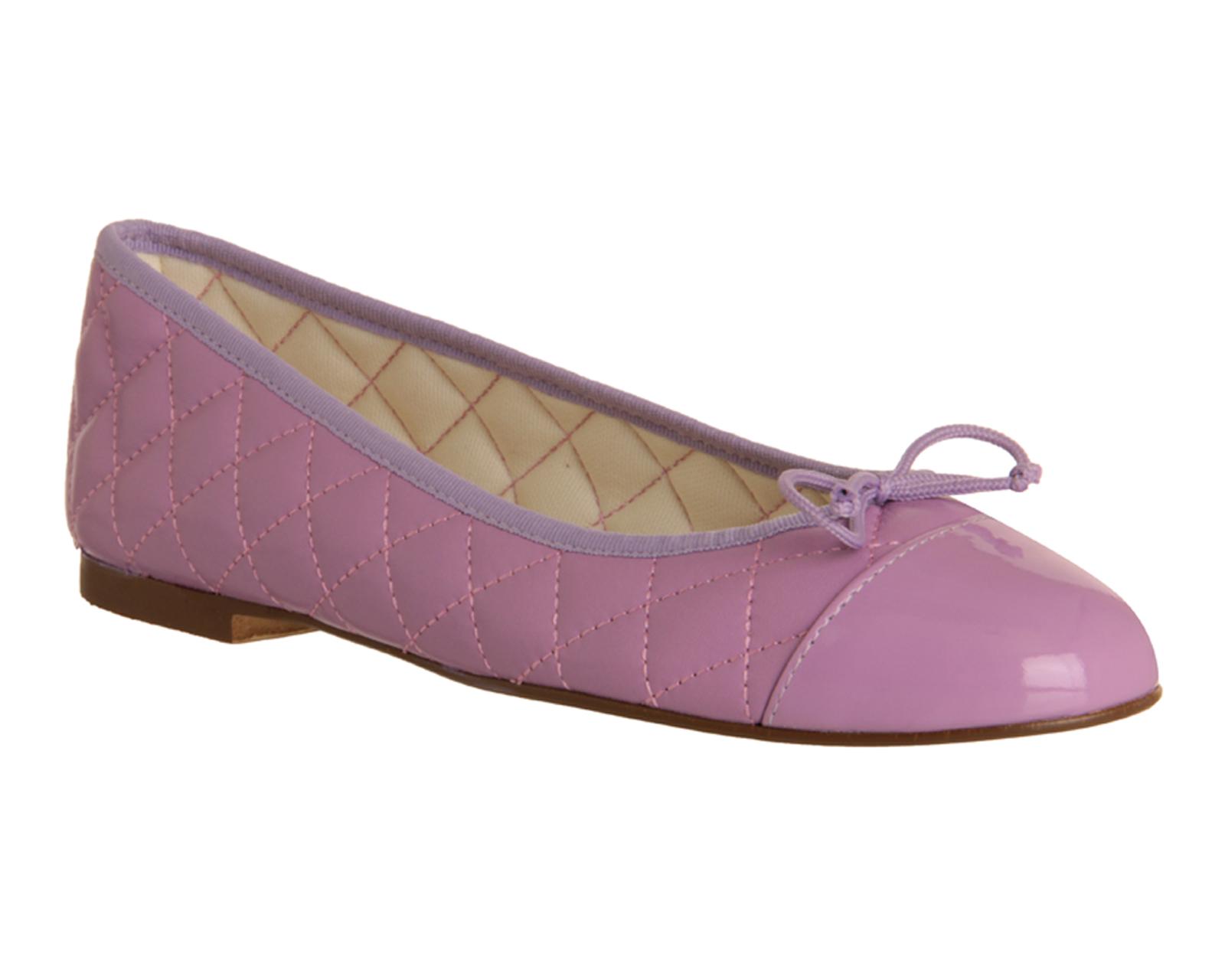 Womens-Office-Cecilia-Toe-cap-Ballerina-LILAC-LEATHER-Flats