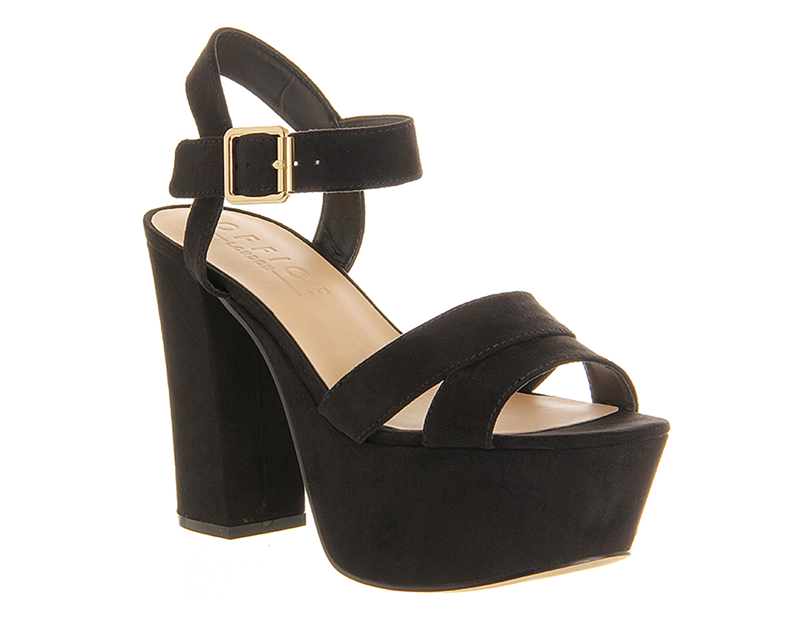 Womens Office Jargon Platform Sandal BLACK Heels | eBay