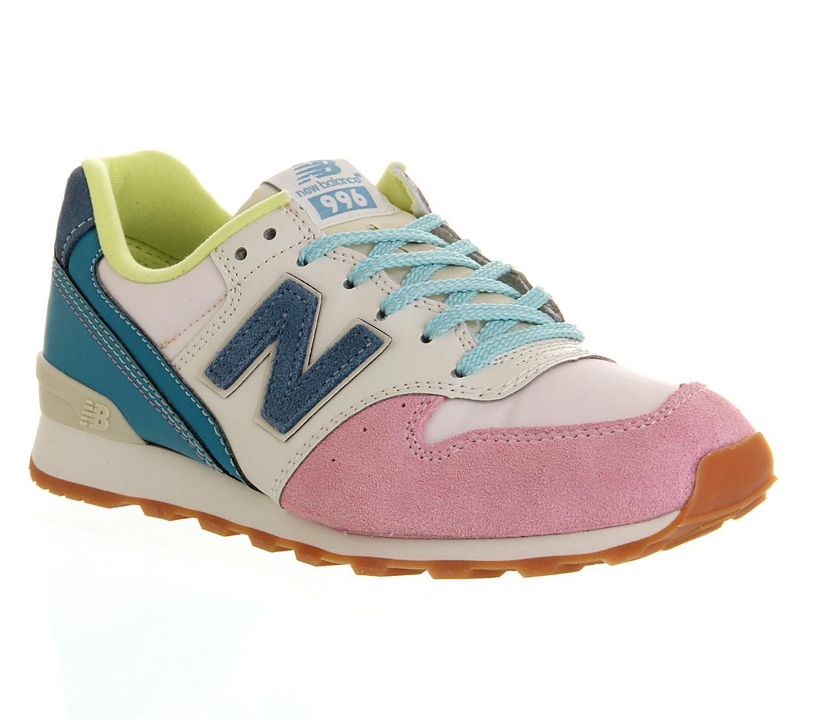 new balance blue pink white