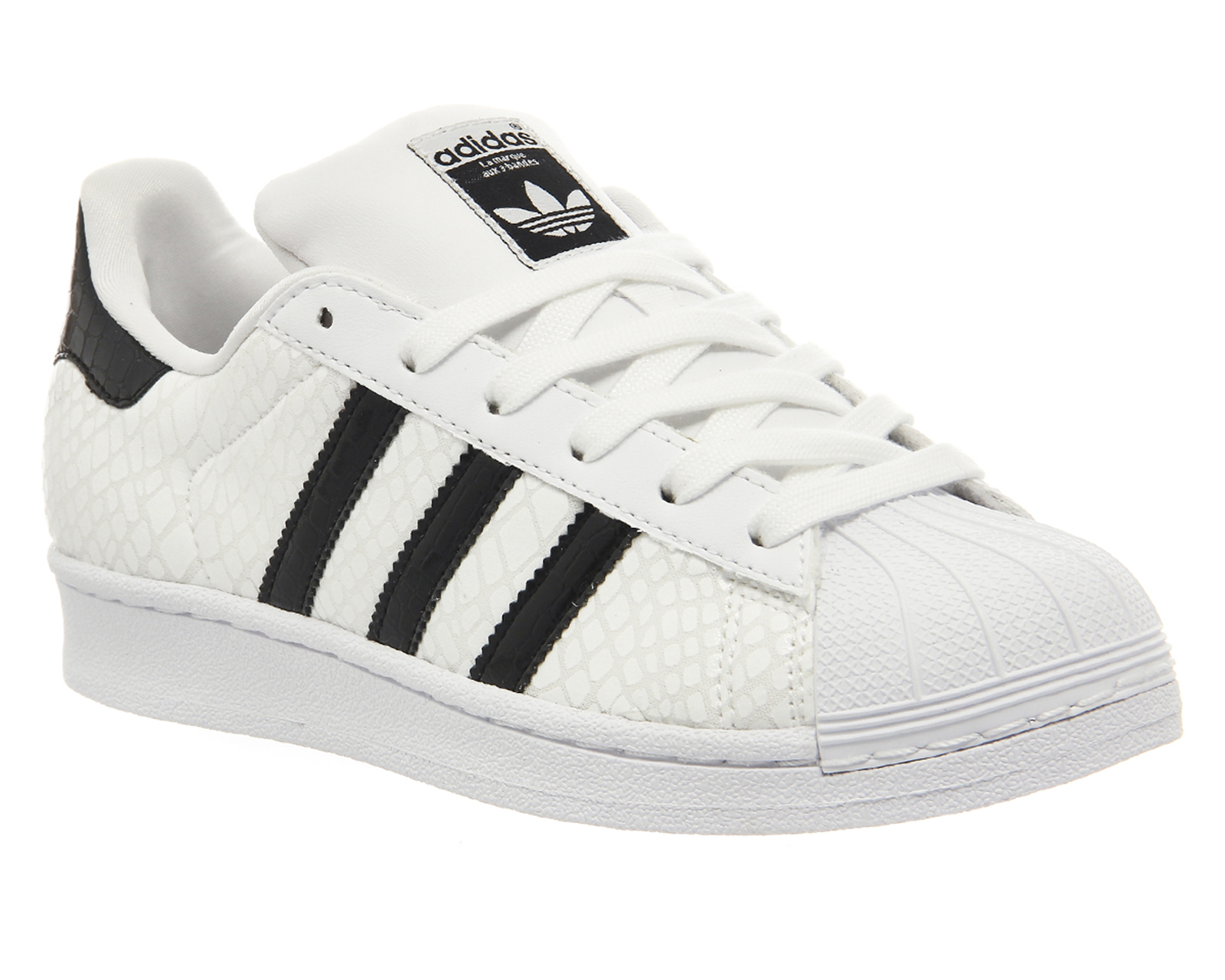 Adidas Shoes White With Black Stripes Womens