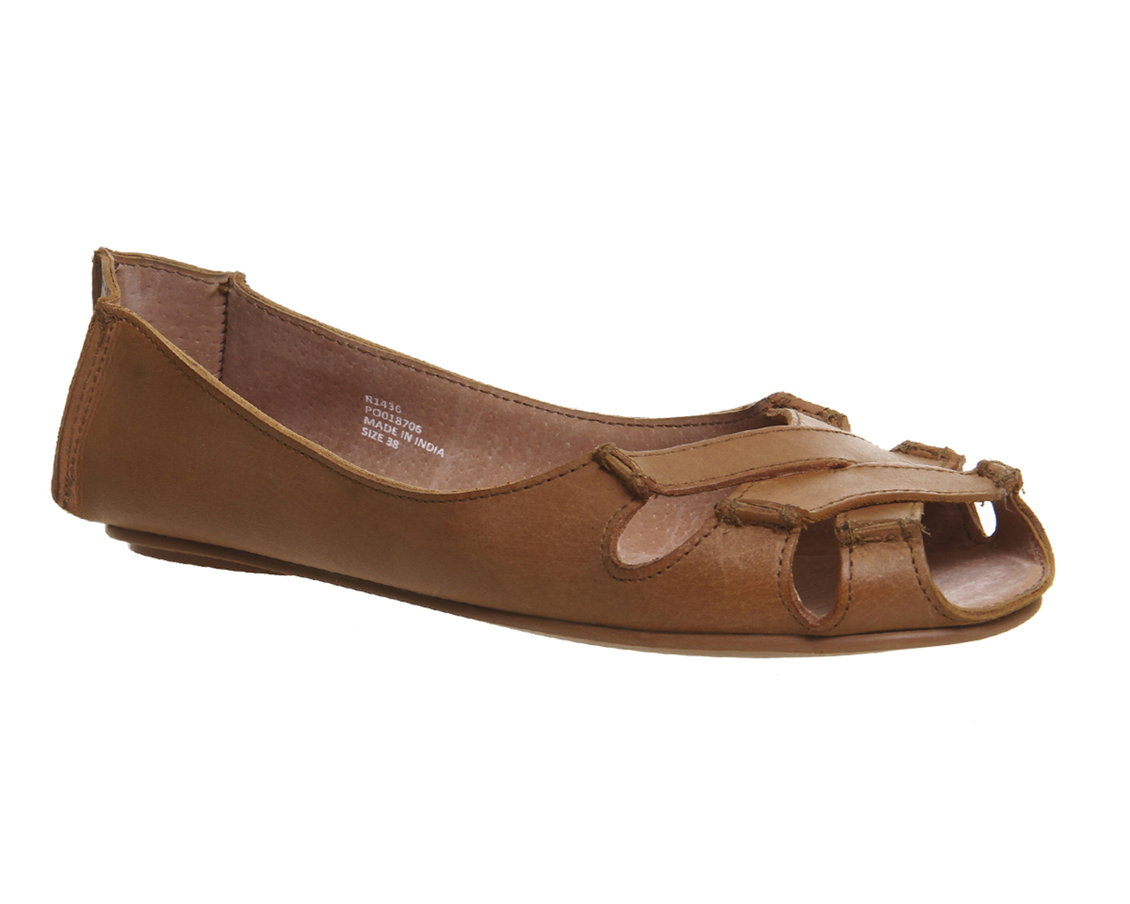Womens Office Dainty Softy P Toe Shoes Tan