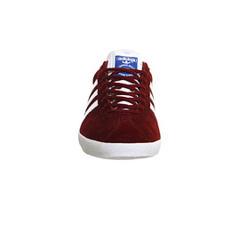 Mens Adidas Gazelle Trainers Burgundy