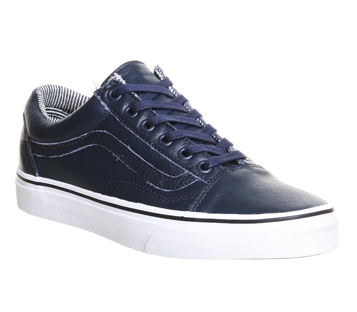 mens vans old skool dress blue stripes leather trainers. Black Bedroom Furniture Sets. Home Design Ideas