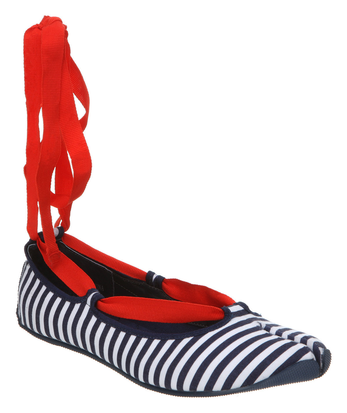 Womens-Office-Tickle-My-Toes-Blue-white-Striped-Shoes