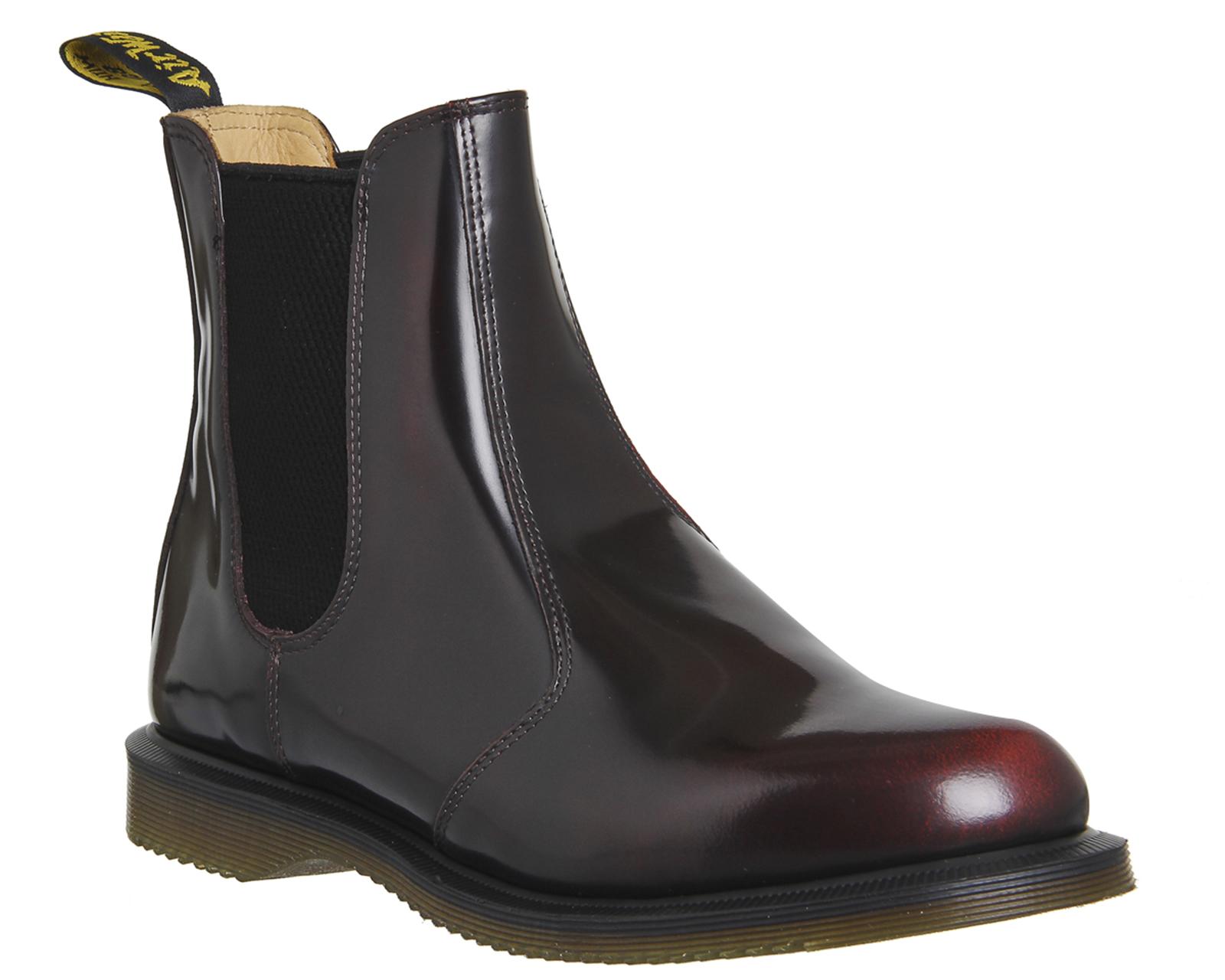 womens dr martens kensington flora boots burgundy leather boots ebay. Black Bedroom Furniture Sets. Home Design Ideas