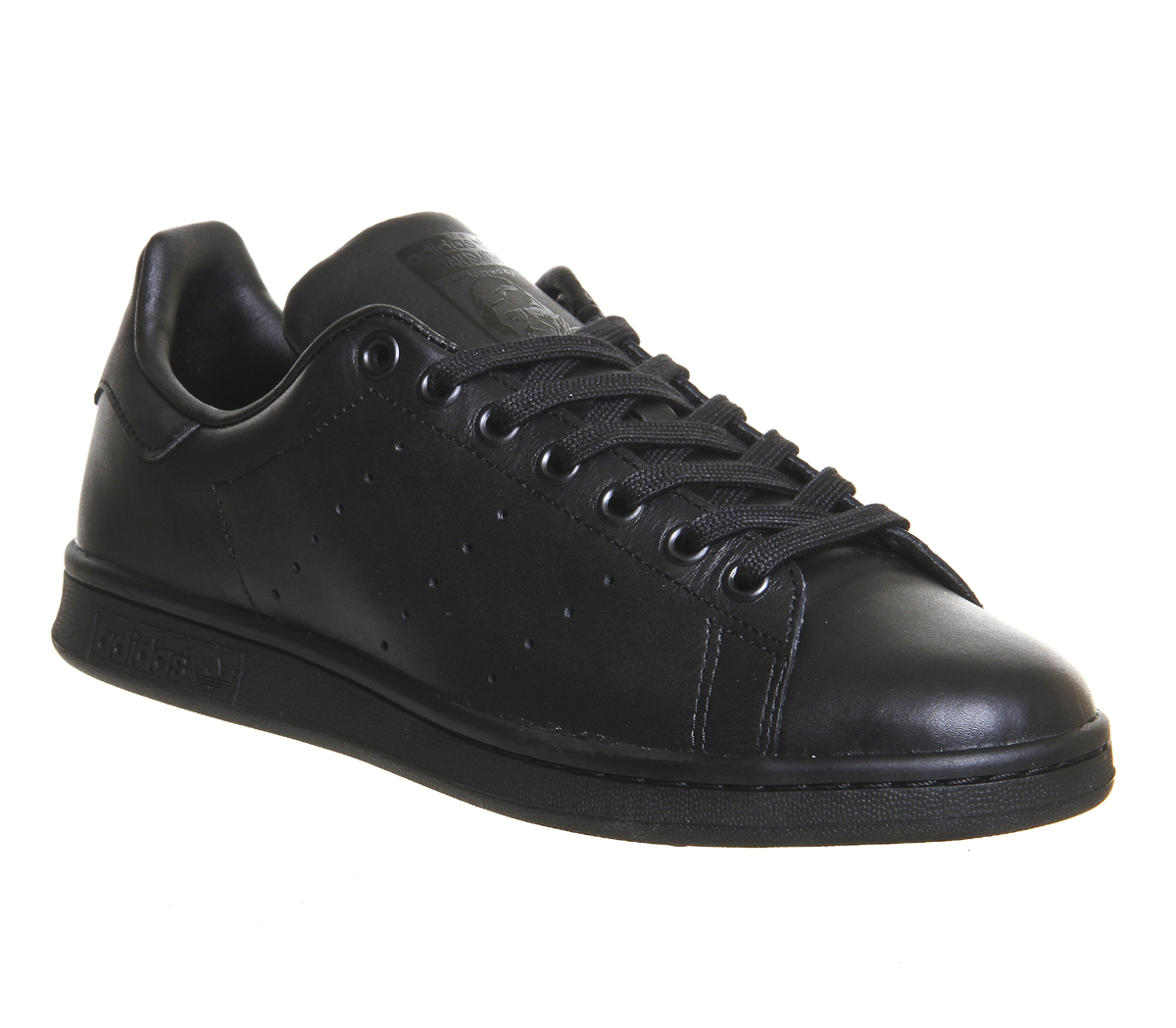 011dc6ef72c941 Mens Adidas Stan Smith CORE BLACK BLACK Trainers Shoes