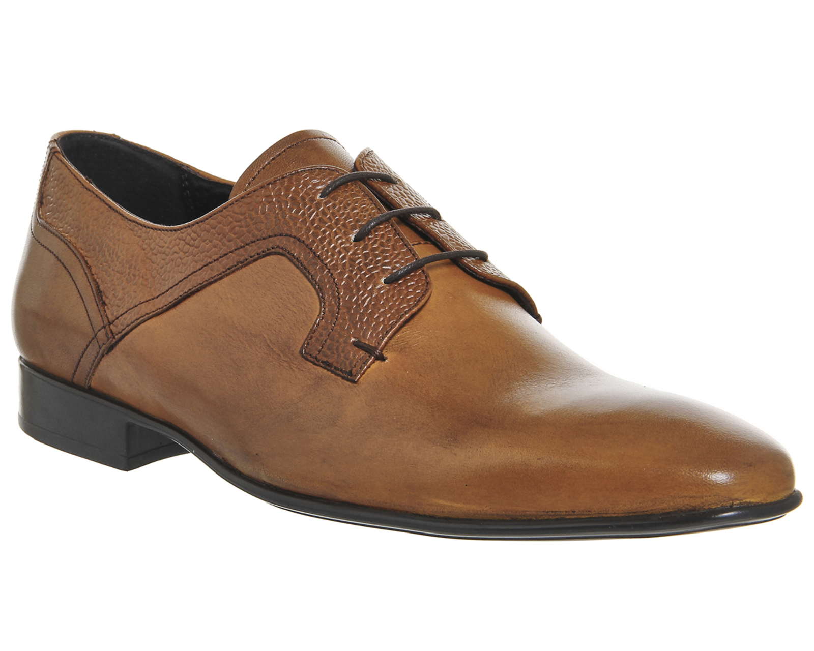 details about mens ask the missus emmett plain toe tan leather formal