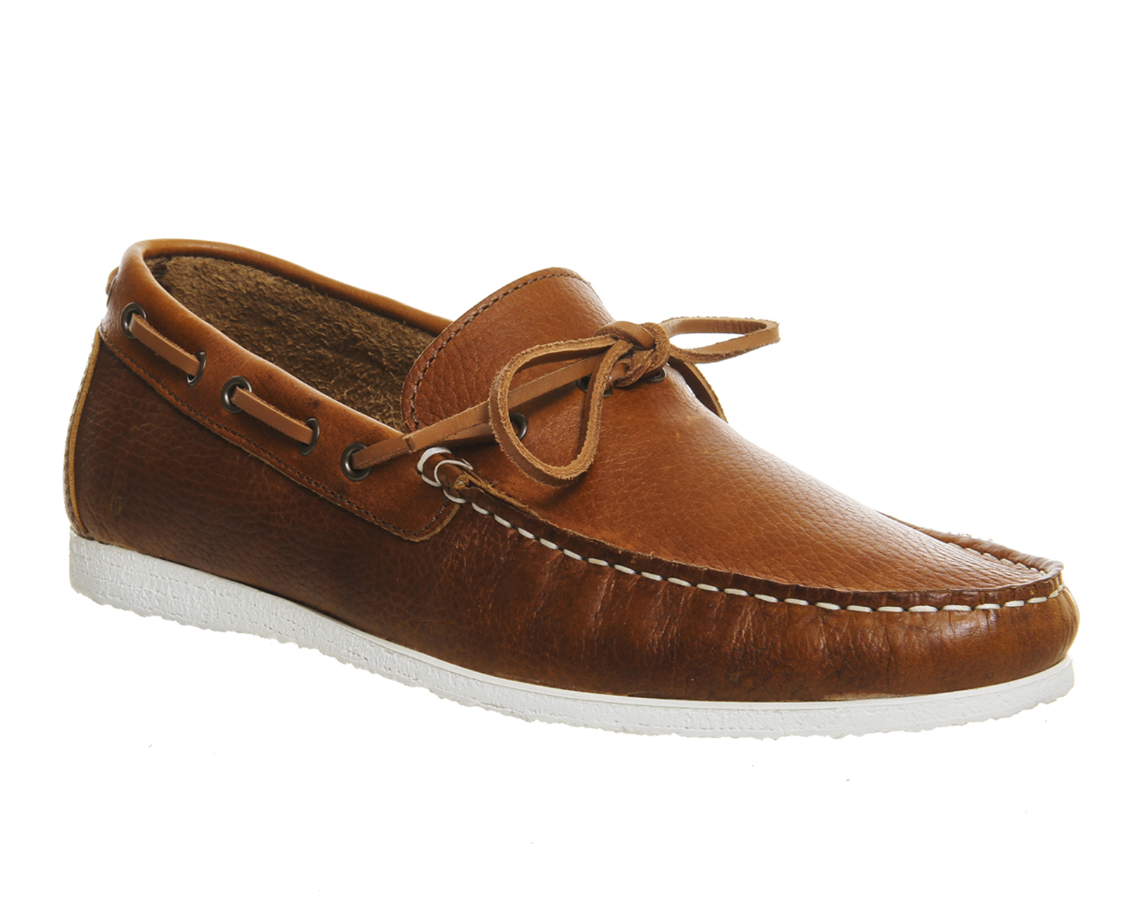 Mens Ask the Missus Draft Boat Shoes TAN LEATHER Formal ...