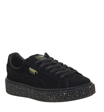 Hqxcrvxs Shoes Gold Platforms Puma Suede Black Speckled Trainers Ebay EWDHI29Y
