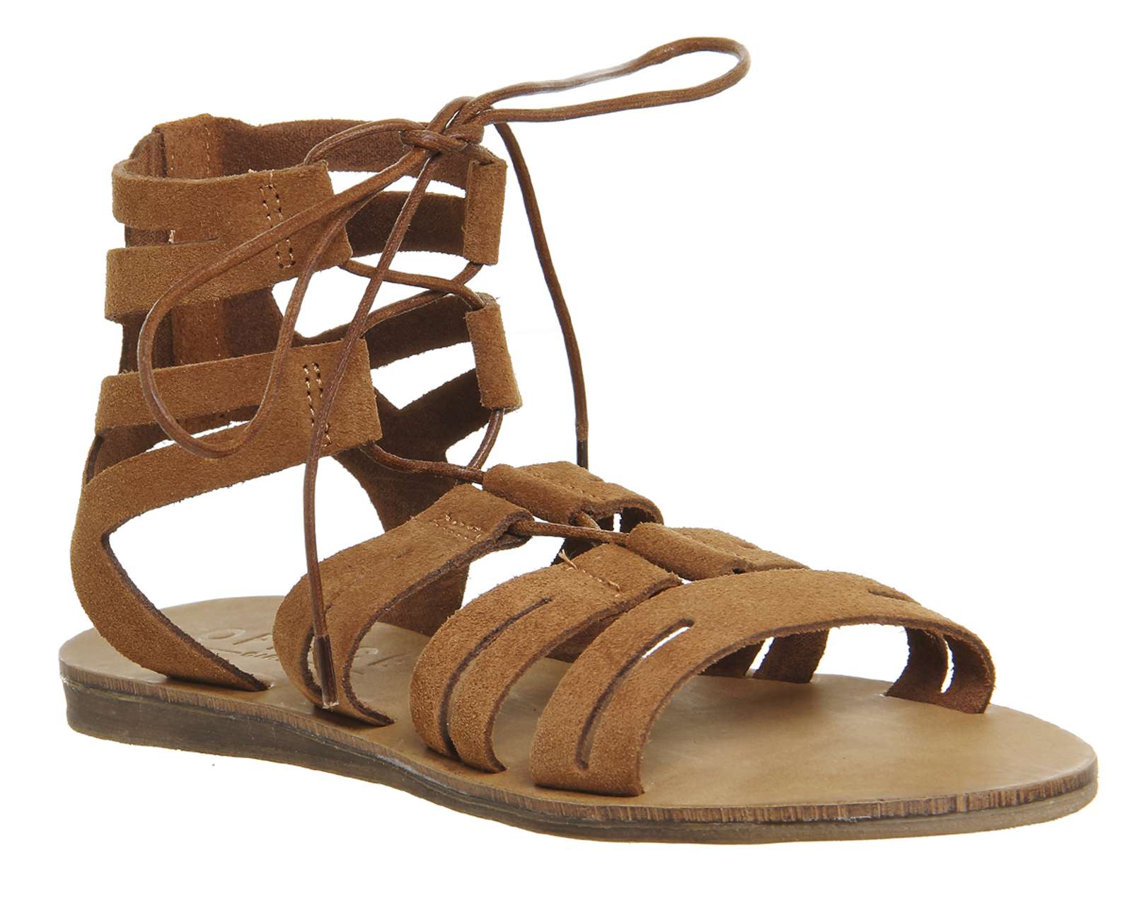 Womens sandals gladiator - Womens Office Banshee Lace Up Gladiator Sandals Tan