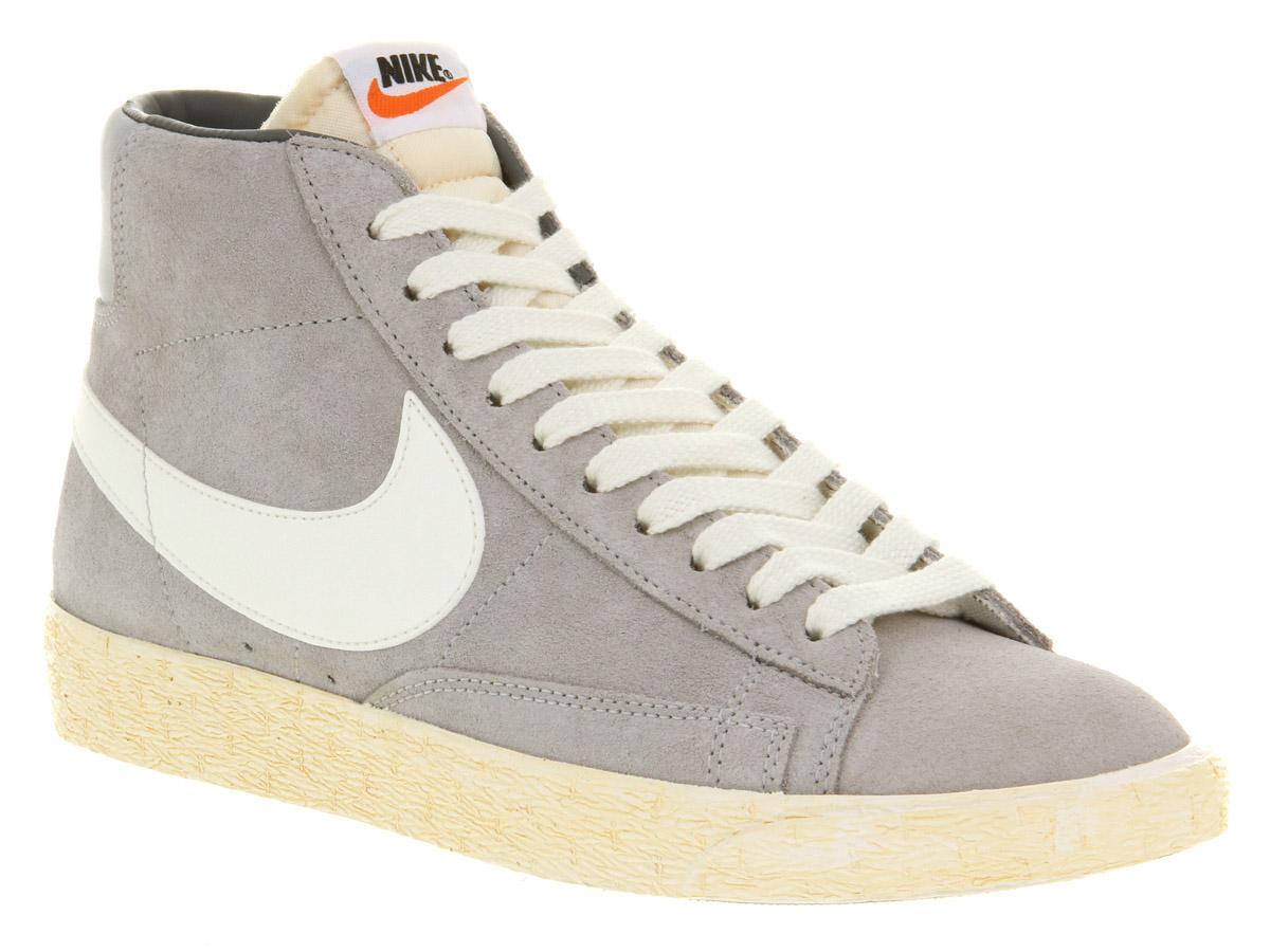 Usa Mens Nike Blazer - Itm Mens Nike Blazer Hi Suede Vntage Wolf Grey Wht Trainers Shoes  130705603925