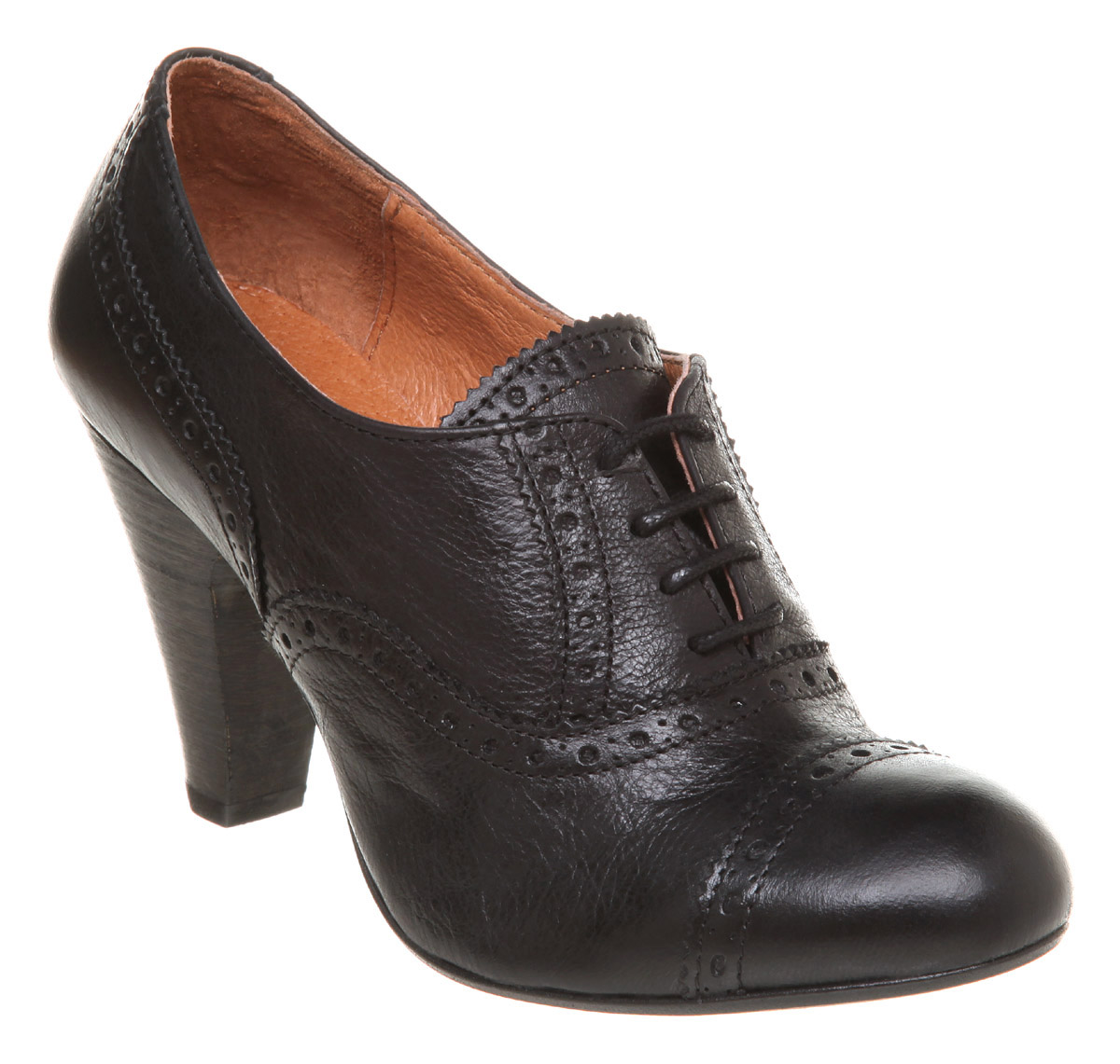 Womens Black Suede Tie Shoes