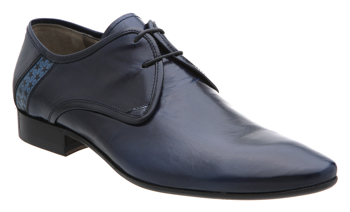 mens hudson neptune gibson blue leather formal shoes ebay