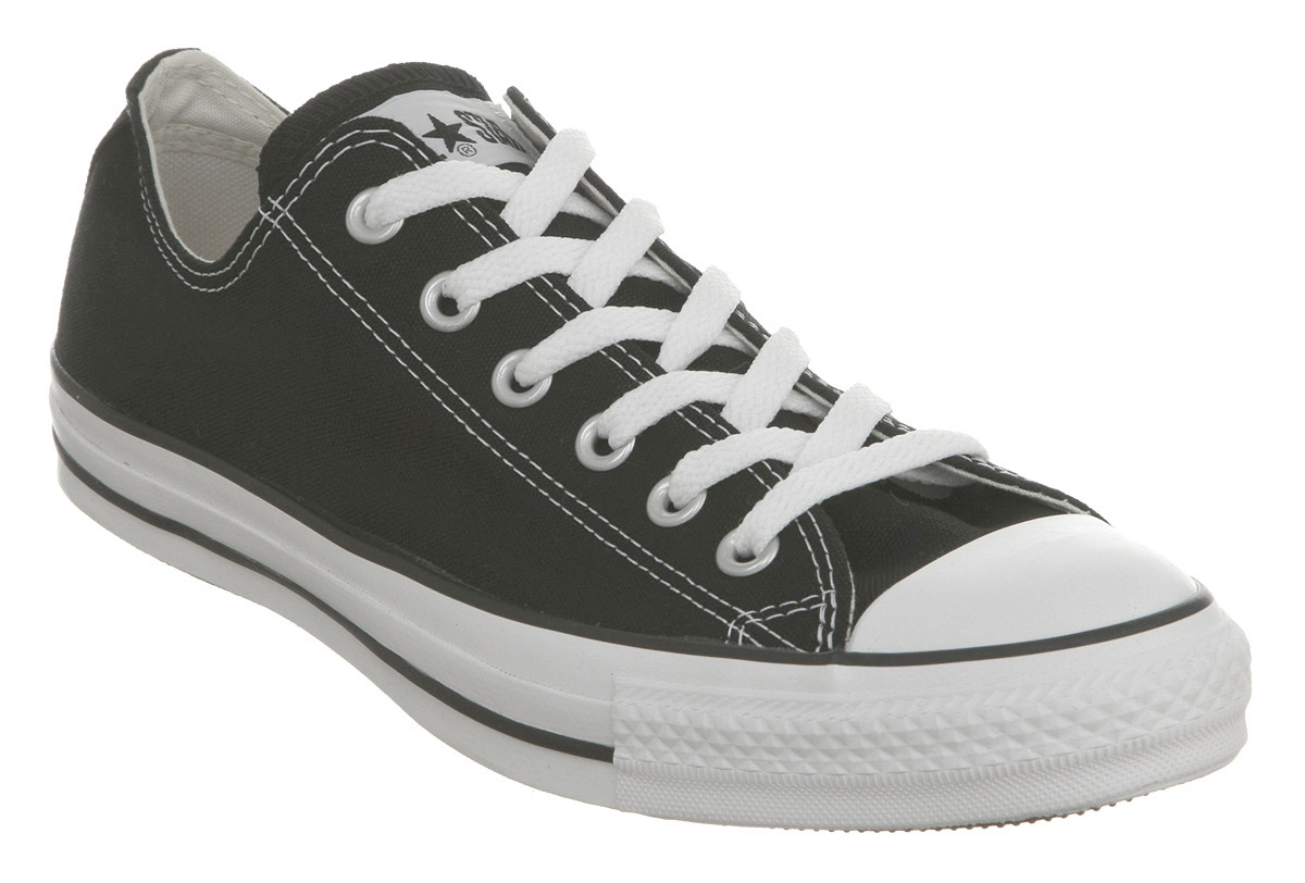 mens converse all star low black canvas trainers shoes ebay. Black Bedroom Furniture Sets. Home Design Ideas