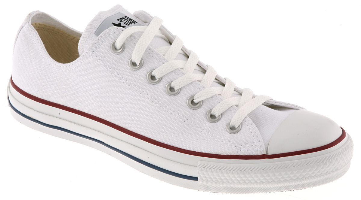 mens converse all star low white canvas trainers shoes