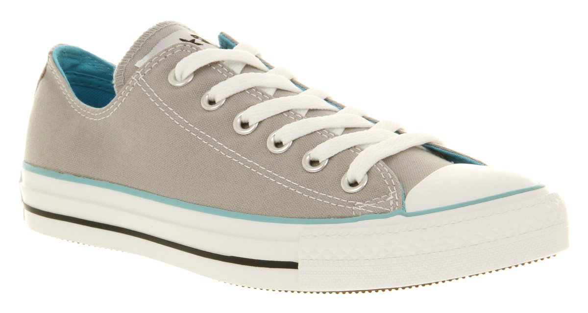 2e1826858bbd Converse All Star Ox Low Grey blue Canvas Exclusive Trainers Shoes ...
