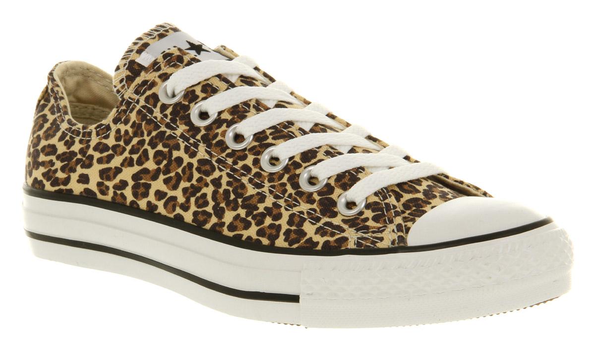 converse basse leopard