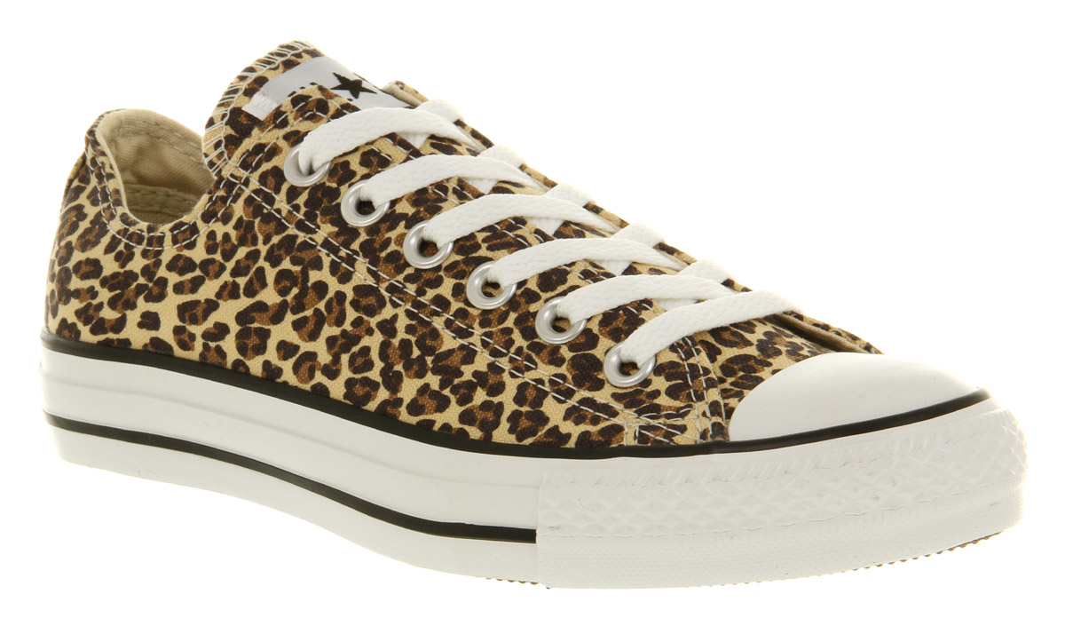 Brown Converse Chuck Taylor All Star Leopard Rock N