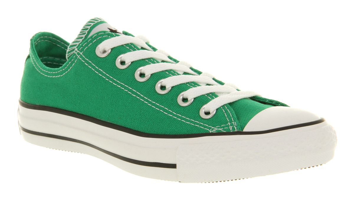 converse all star ox low jelly bean green trainers shoes