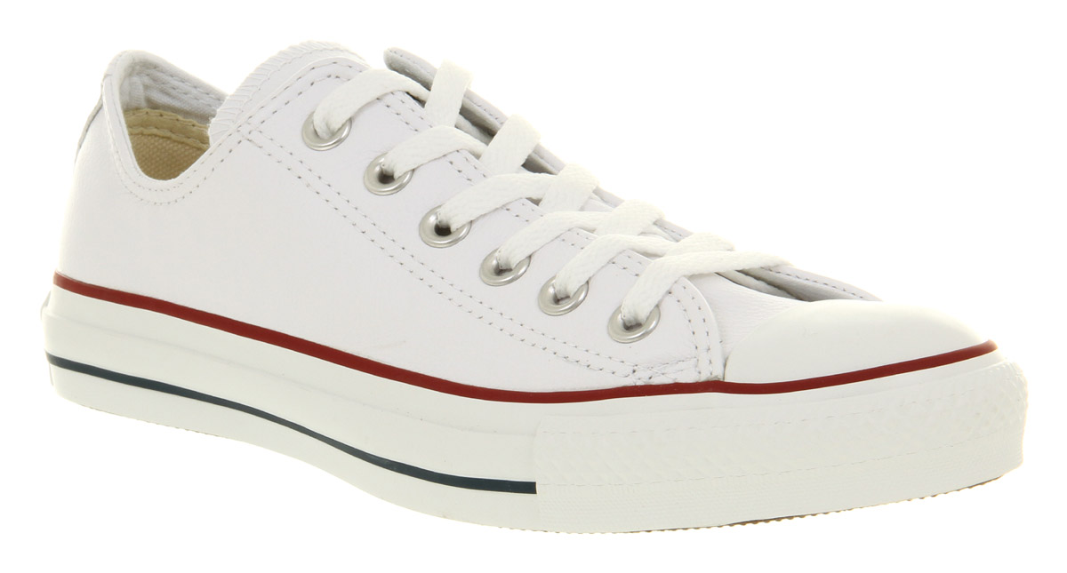 Converse-All-Star-Leather-Ox-Low-Optical-Wht-Smu-Trainers-Shoes