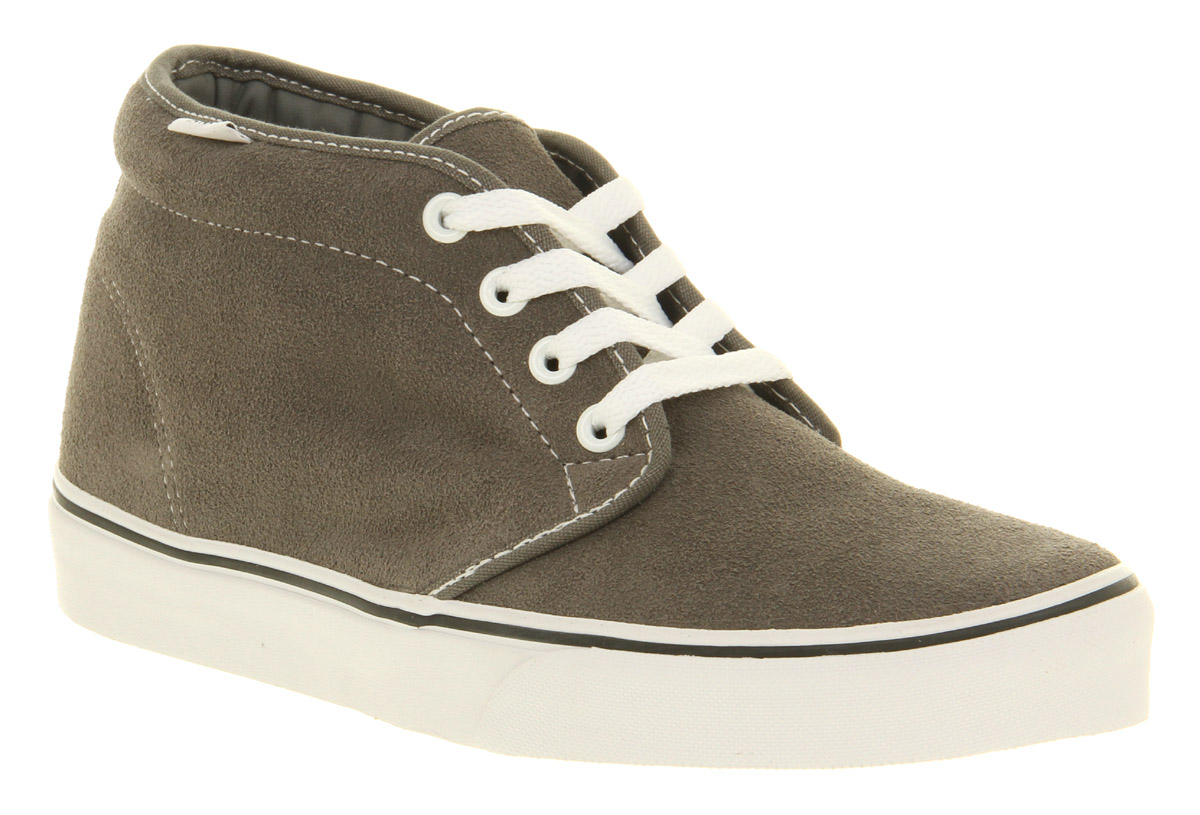 Mens-Vans-Chukka-Boot-Pewter-Suede-Trainers-Shoes