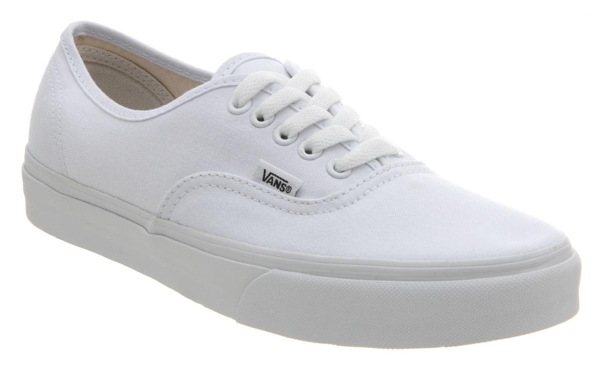 Vans Authentic Classic True White Skate Shoe
