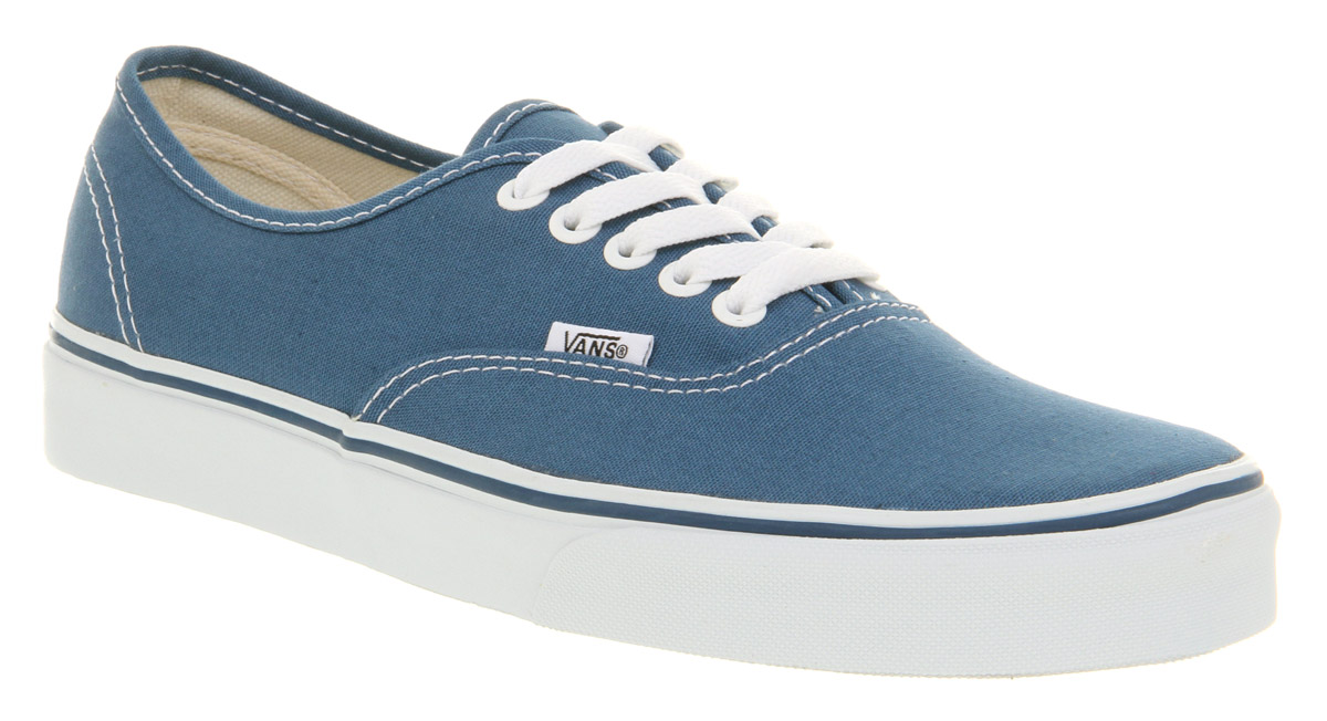 vans authentic navy blue trainers shoes ebay