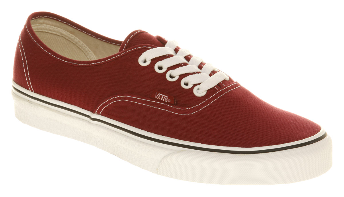 Vans-Authentic-Biking-Red-wht-Trainers-Shoes