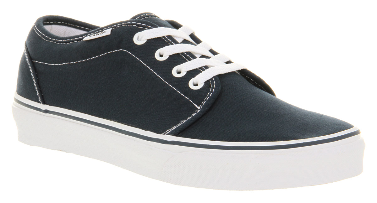 Mens-Vans-106-Vulcanized-Navy-Blue-white-Trainers-Shoes