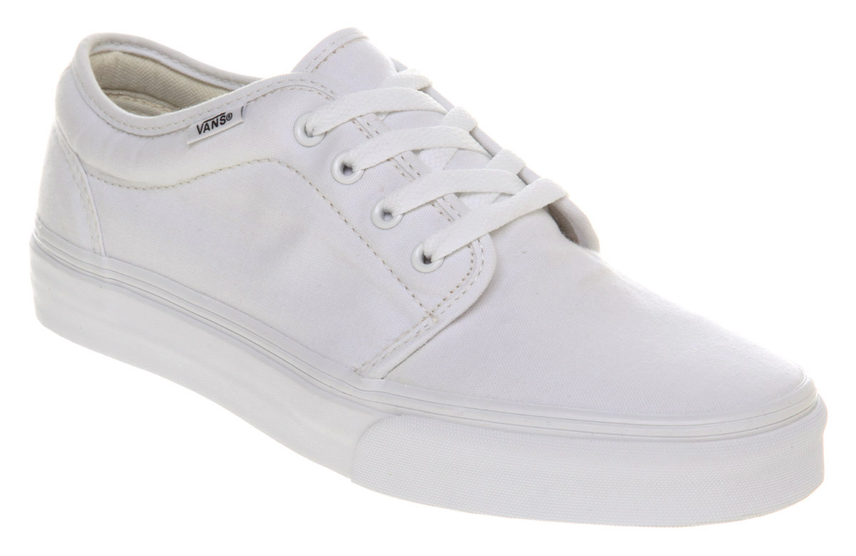 mens vans 106 vulcanized true white trainers shoes ebay