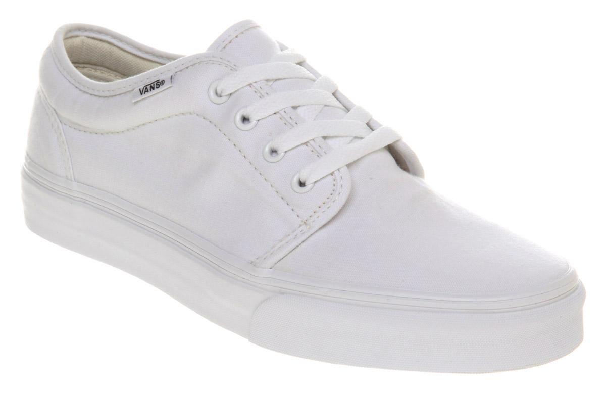 69e05275dace83 Mens-Vans-106-Vulcanized-True-White-Trainers-Shoes thumbnail