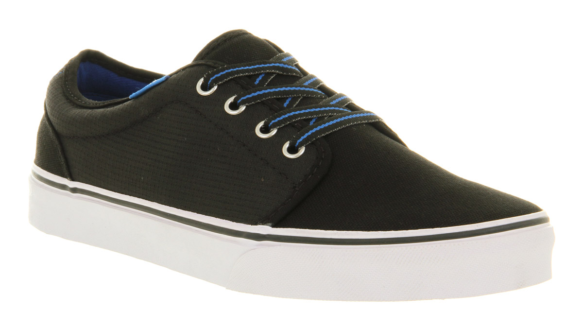 Mens-Vans-106-Vulcanized-Black-Ripstop-S-Trainers-Shoes