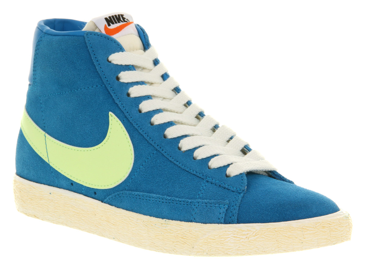 Closeout Mens Nike Blazer - Itm Mens Nike Blazer Hi Suede Vntage Neptunelime Exc Trainers Shoes  130708091435