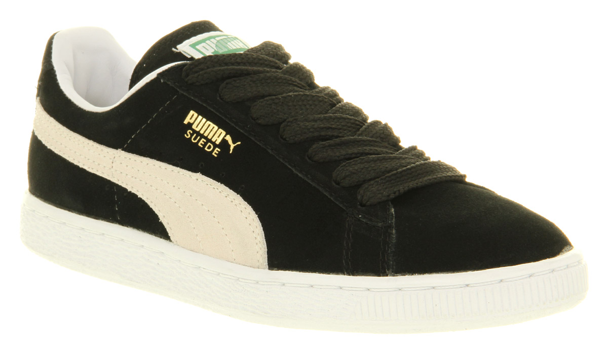 puma suede classic black white trainers shoes ebay. Black Bedroom Furniture Sets. Home Design Ideas