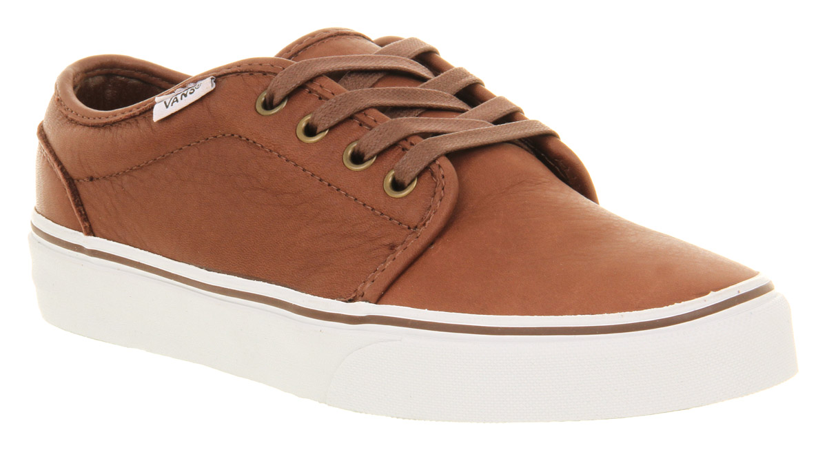 e9ebade226fb Vans 106 Vulcanized Leather Rust Brown Smu Trainers Shoes