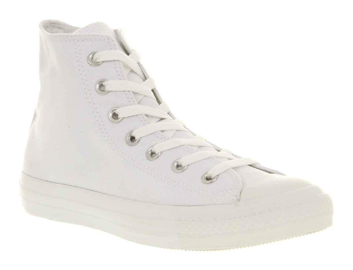 Image is loading Converse-All-Star-Hi-White-mono-Canvas-Exclusive-