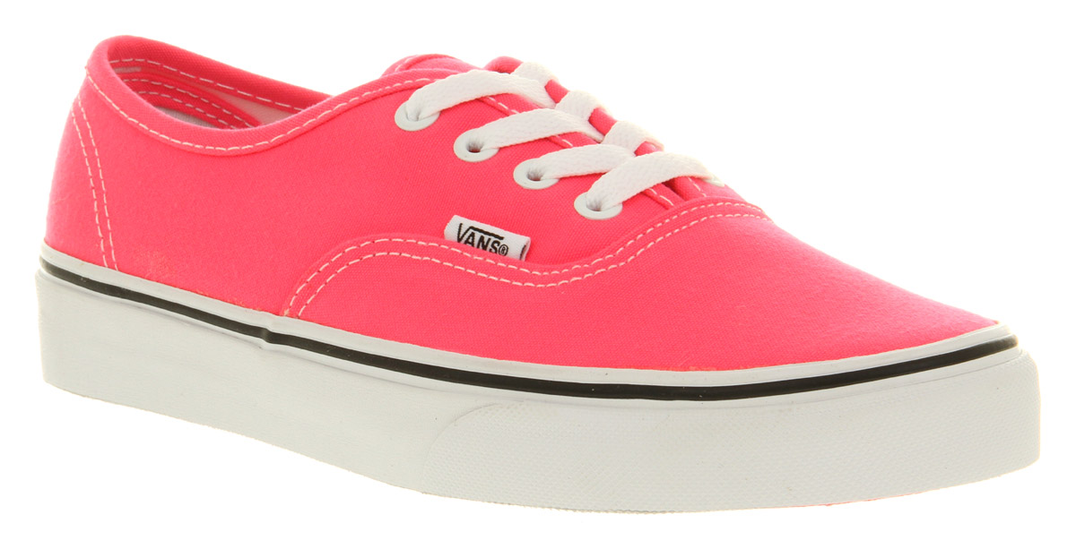 41a0062ef4 Vans Authentic Neon Pink whtst Trainers Shoes