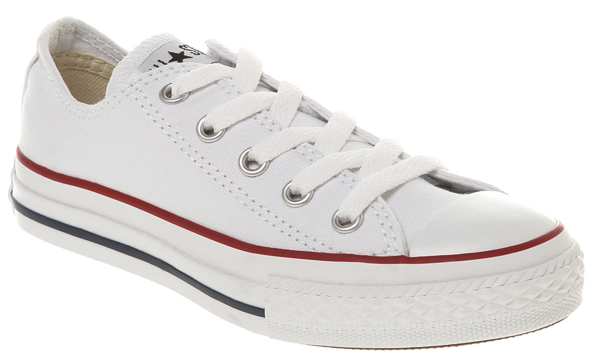 Kids Converse All Star Ox Low Kids/youth Optical White ...