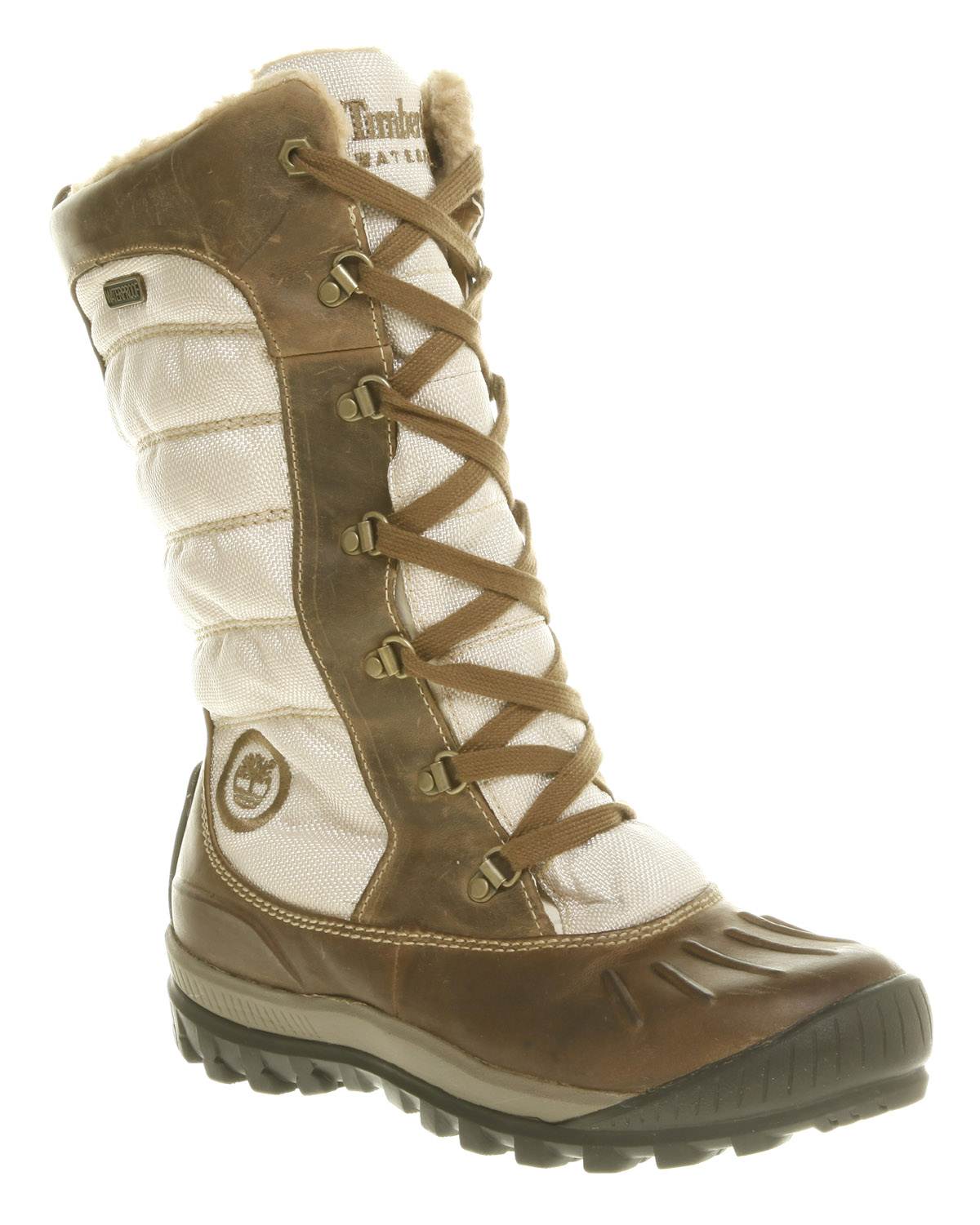 womens timberland mount duck boot taupe brown lth