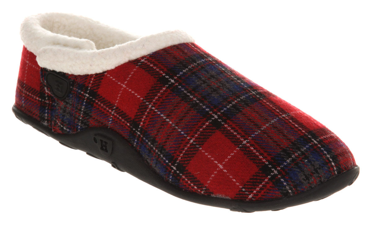 Mens-Homeys-Homeys-Slipper-Red-Tartan-Flai-Casual-Shoes