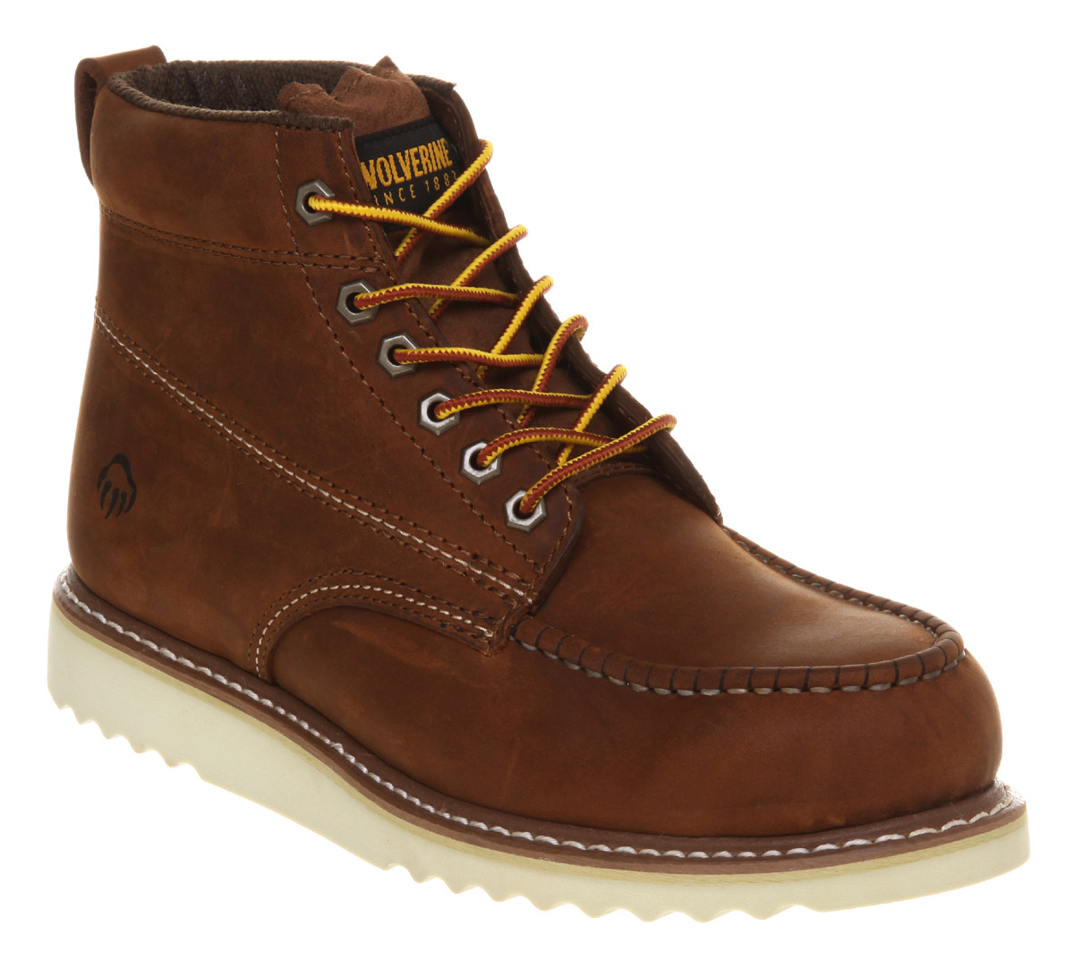 mens wolverine apprentice wedge boot leather boots ebay