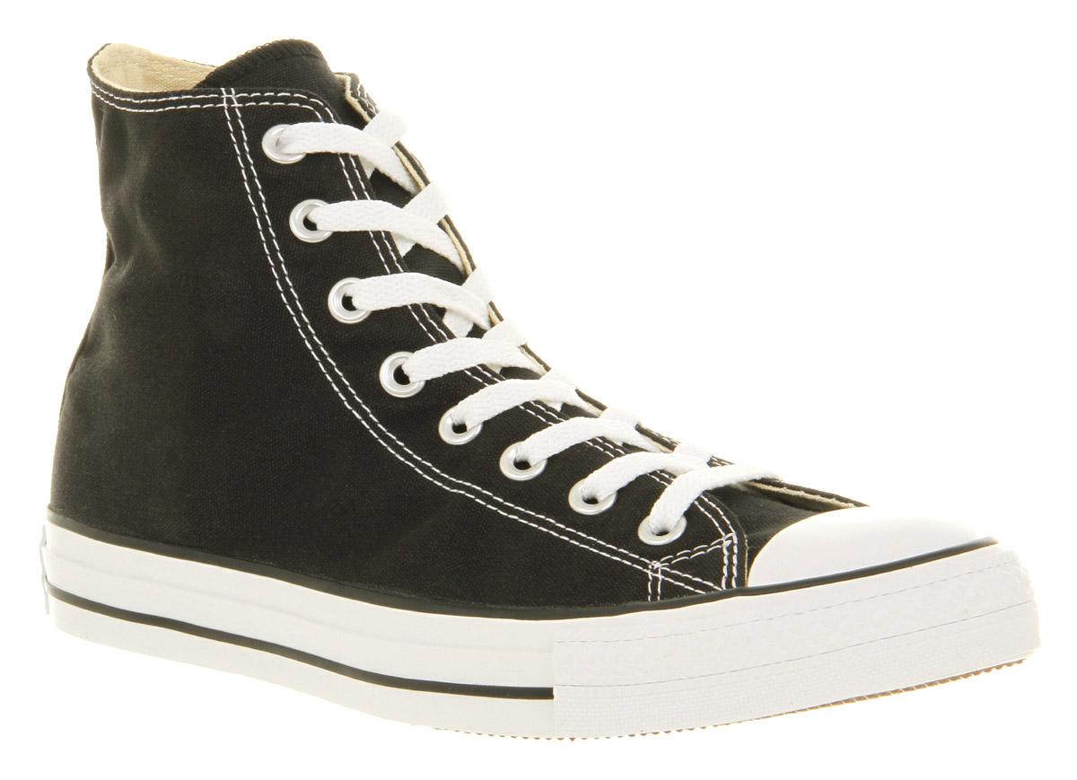 mens converse all hi black canvas trainers shoes ebay