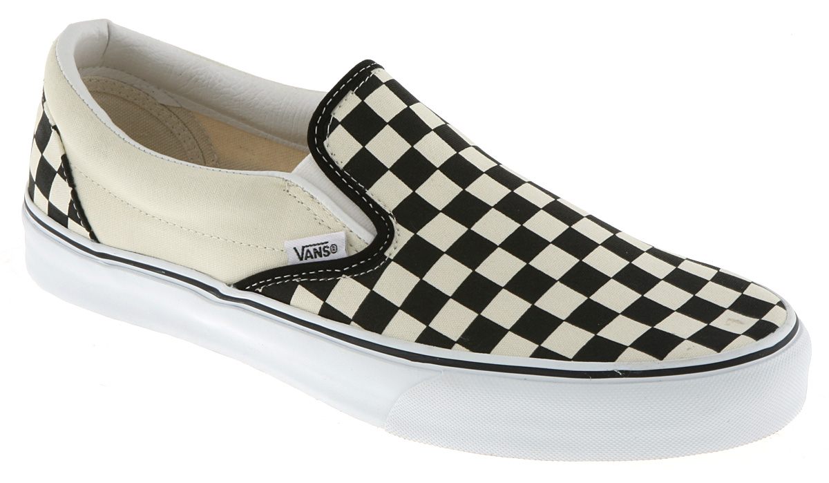 vans classic slip on black white check trainers shoes vh9 ebay. Black Bedroom Furniture Sets. Home Design Ideas