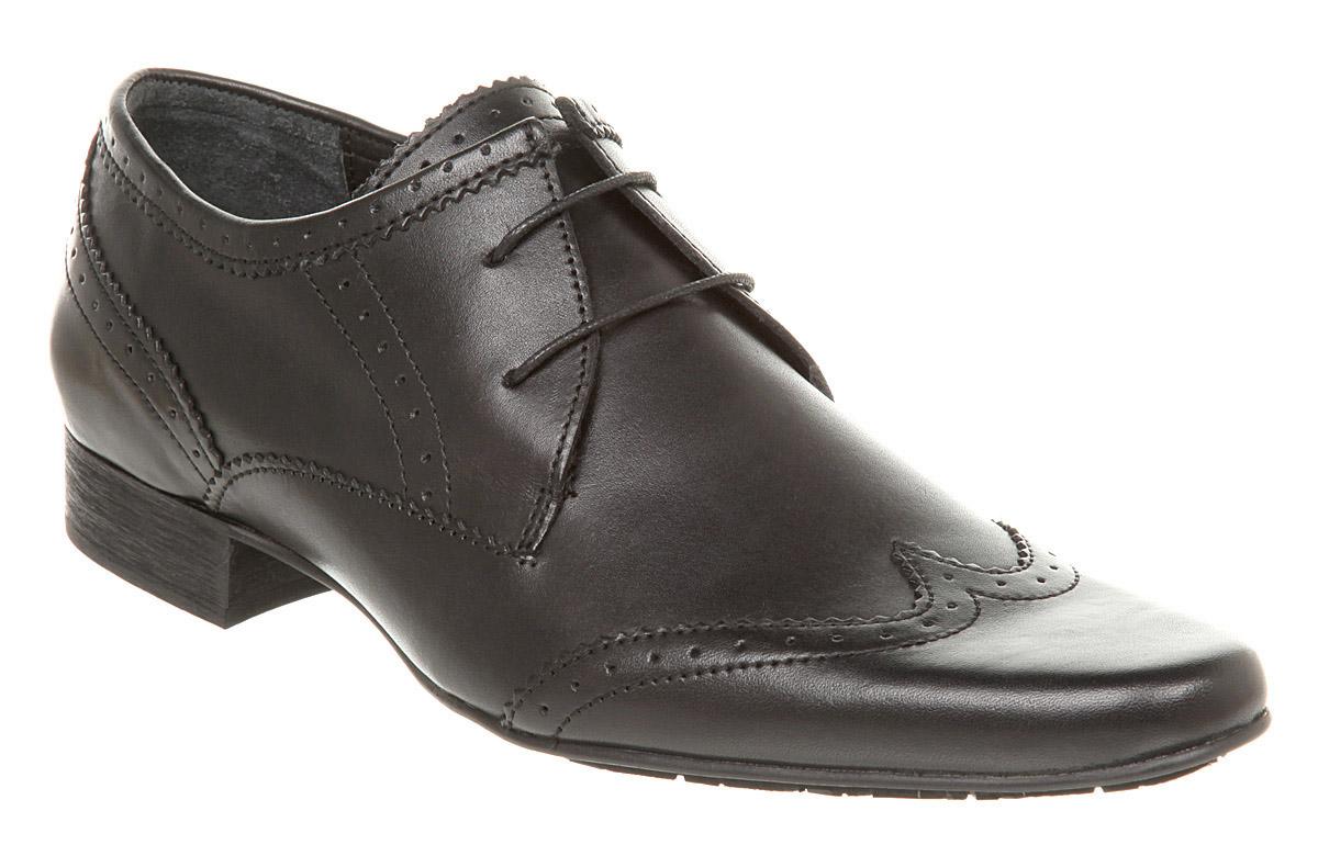 mens hudson ellington brogues black leather formal