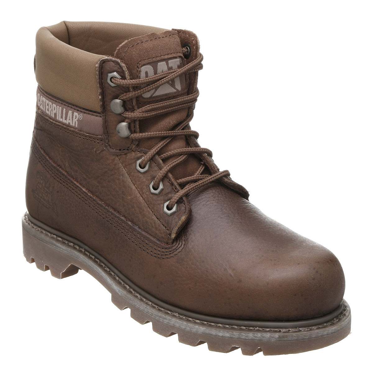 mens caterpillar colorado mens brown leather boots ebay